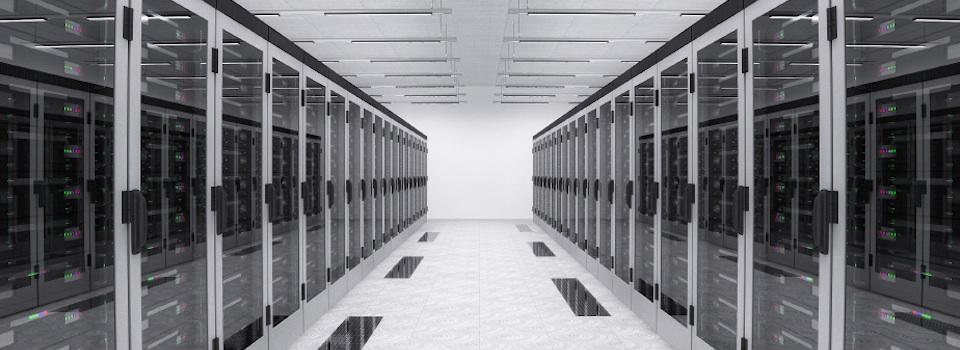 Virtual Machine cloud data center rack