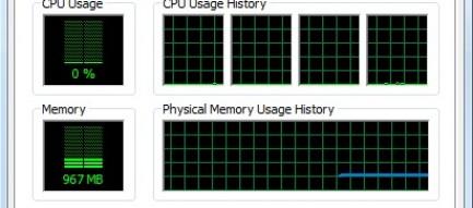 Windows Task Manager Performance Tab